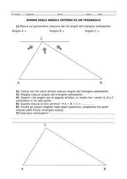 somma degli angoli interni di un triangolo 9 sia abc un triangolo isoscele di base bc 4 cm e