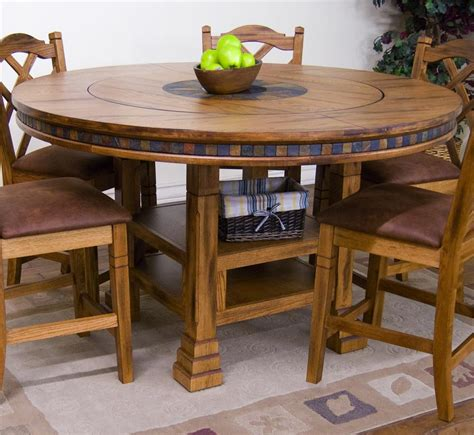 43 best lazy susan tables designs sedona adjustable height table w lazy
