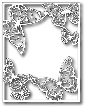 memory box die drifting butterfly frame butterfly