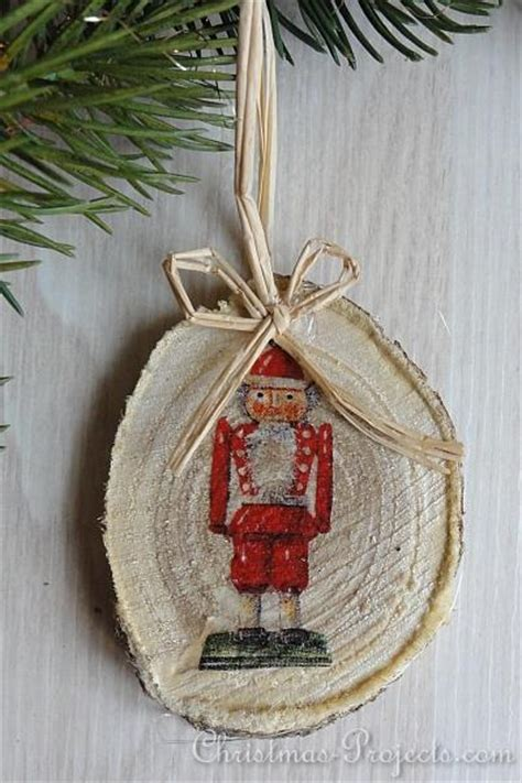 christmas craft vintage style wood slice christmas tree