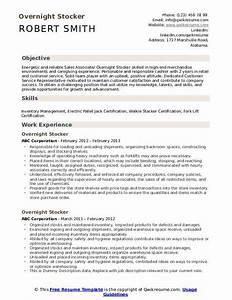Customer Service Associate Job Description Resume Overnight Stocker Resume Samples Qwikresume
