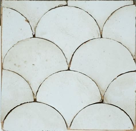 curve appeal painted terra cotta tile white