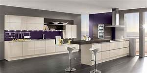 purple kitchen ideas designed in feminine style home With kitchen cabinets lowes with purple and gold wall art