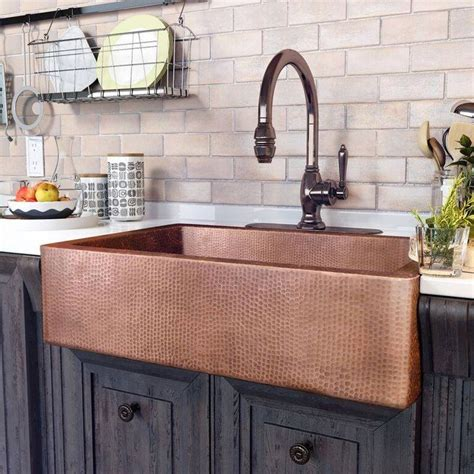 copper farmhouse kitchen sinks best 25 copper sinks ideas on