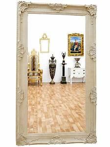 Miroir Blanc Baroque : grand miroir baroque en bois blanc 234x134 cm loches meuble de style ~ Teatrodelosmanantiales.com Idées de Décoration