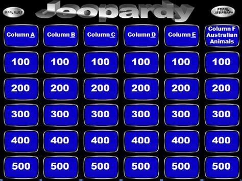 jeopardy template   sound jeopardy powerpoint