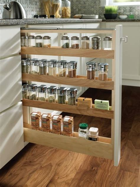 Medallion at Menards Cabinets   Base Pull Out Spice Rack