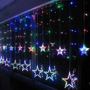 Weihnachtsdeko Fenster Bunt bunt led lichterkette vorhang fenster baum