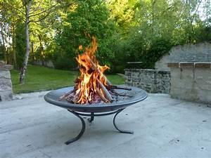 Brasero De Terrasse : fire bowl coupe feu lounge brasero dit gai de grez ~ Premium-room.com Idées de Décoration