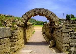 file the entrance of the stadium in ancient olympia