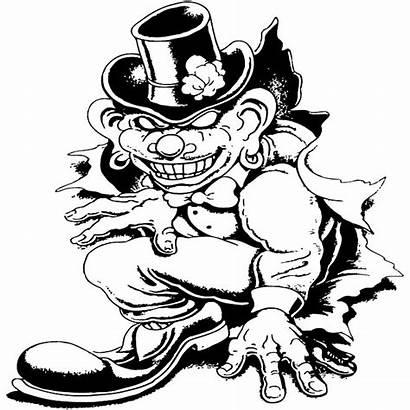 Clown Vector Evil Bad Leprechaun Vectors Coloring