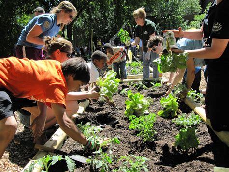 Kids In Vegetable Garden