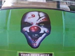 Evil Clown Golf Cart Hood Decal Window Decals Stickers Graphics Ezgo Club Go Car