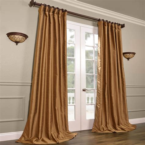 Silk Drapes by Buy Empire Gold Yarn Dyed Faux Dupioni Silk Curtains