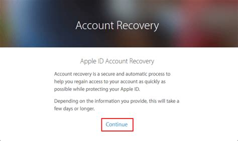 Account Recovery Unlock A Locked Apple Id With Two Factor Authentication