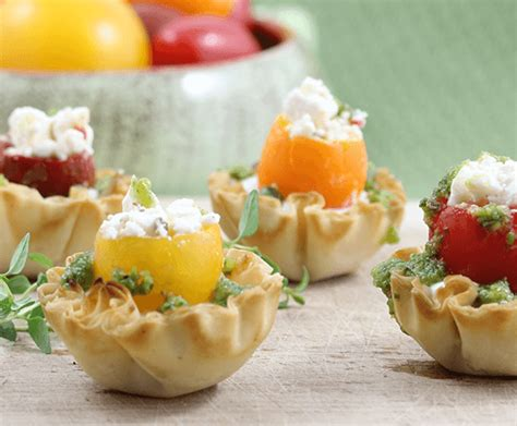 fresh canapes fresh heirloom phyllo canapes athens foods