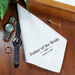 personalized wedding handkerchiefs men39s handkerchiefs With wedding gifts for dad