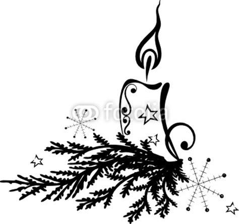 Bilder Advent Schwarz Weiß by Weihnachten Advent Tannenzweig Kerze Vector