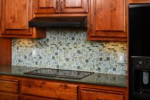 Kitchen Backsplash Designs 2014 Kitchen Extraordinary Green White Mosaic Tile Kitchen Backsplash With Oak Kitchen Cabinet Set