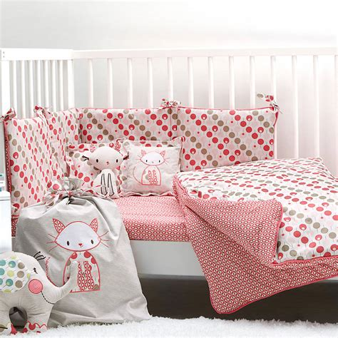 cot bedding set for girls by ella otto