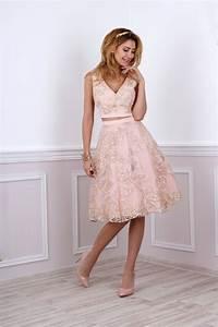 Kleidung Für Hochzeit : kleid f r standesamtliche trauung in rosa gold kleiderfreuden ~ A.2002-acura-tl-radio.info Haus und Dekorationen