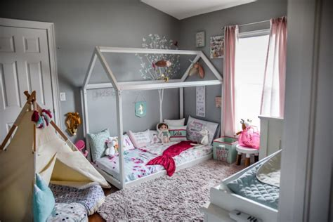 floor level bed frame why we chose a montessori style bedroom for our toddlers