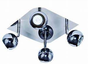 Rampe De Spot : rampe 4 spots chrome gu10 plafond myplanetled ~ Teatrodelosmanantiales.com Idées de Décoration