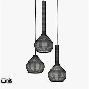 Drip light pendant lamp ex t d model max obj ds fbx dwg