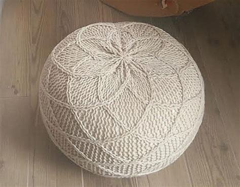 knitted ottoman pouf pattern best 25 knitted pouf ideas on knitted pouffe large grey cushions and living room