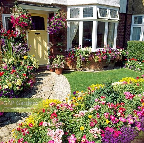 traditional garden flowers gap gardens traditional english front garden with colourful flowers grown from seed and lawn