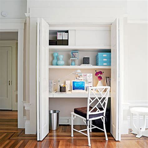 how to create new office space in a closet garage attic