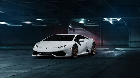 White Lamborghini Windows 10 Wallpaper