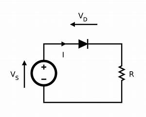 Diode modelling wikipedia for Circuit with diodes