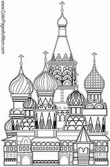 Coloring Pages Church Buildings Colouring Adult Printable Grown Ups Russian Sheets Basil Famous Moscow Colorpagesformom St Landmarks Books Architecture Sample sketch template