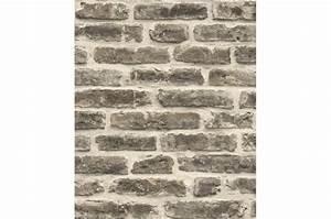 Papier Peint Trompe L Oeil Brique : papier peint style trompe l 39 oeil mur de briques gris fonc ~ Premium-room.com Idées de Décoration