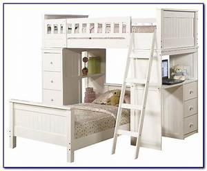 Twin, Over, Full, Bunk, Bed, With, Desk, And, Storage