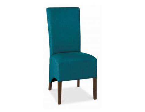 teal upholstered dining chairs nina walnut and teal upholstered dining chair