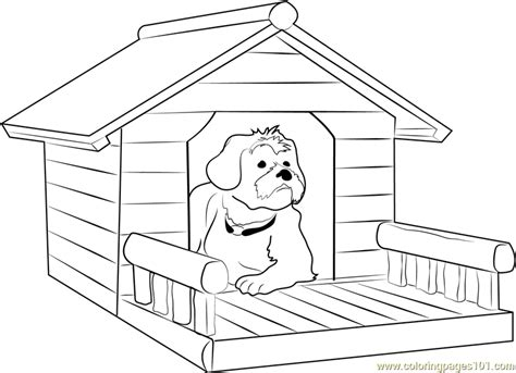 dog house  porch coloring page  dog house coloring pages coloringpagescom