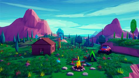 Low Poly Stylized Environment By Emek Ozben In