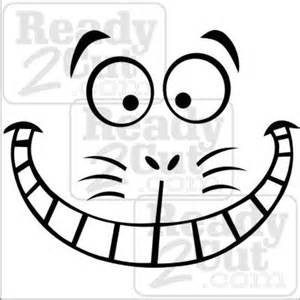 Cheshire Cat Pumpkin Carving Stencil by Cheshire Cat Smile Ready 2 Cut Designs