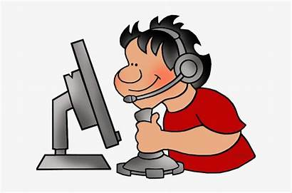 Clipart Games Playing Computer Person Pngkey Transparent