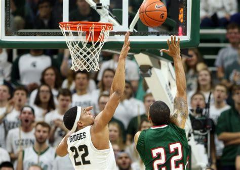 miles bridges shines  michigan state basketball routs mvsu
