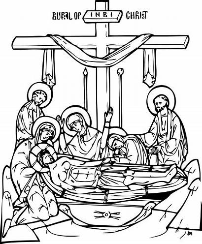 Orthodox Coloring Clip Pages Clipart Christian Line