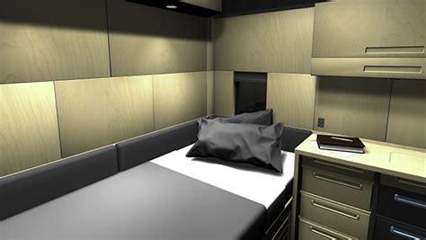 semi truck sleeper cabinets self installation semi truck sleeper interior on behance