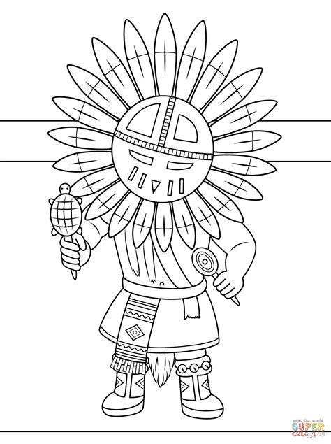 indian headdress coloring page coloring home