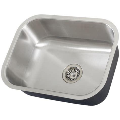 16 undermount kitchen sink ticor s505 undermount 16 g stainless steel single bowl 7276