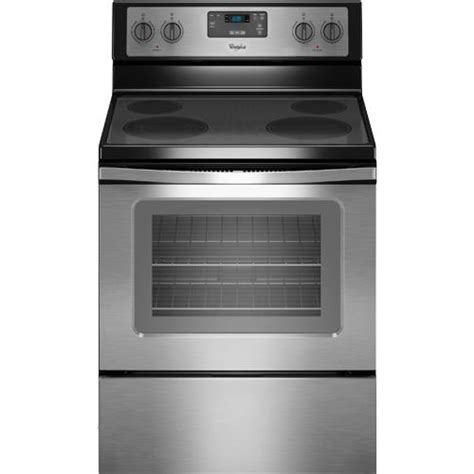 30 whirlpool glass top electric range stainless wfe320m0es clearance center