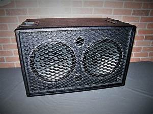 All Black Earcandy Buzzbomb 2x12 Guitar Amp Cab Cabinet