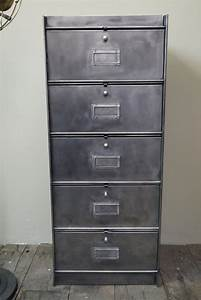 Meuble Industriel Vintage : ancien meuble 5 casiers industriel a clapet roneo 50 60 ~ Teatrodelosmanantiales.com Idées de Décoration