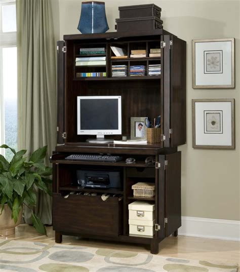 computer desk with hutch and file cabinet furniture black stained wood hutch computer table with
